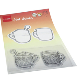 HT1666 Clear Stamp & Die Hot drinks