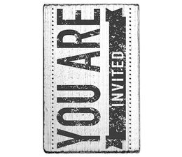 V01020 Colop You Are Invited Vintage Rubber Stamps