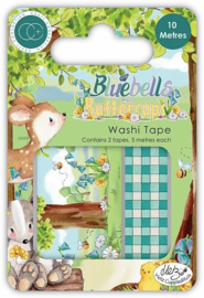 CCWTPE009 Craft Consortium Bluebells and Buttercups Washi Tape