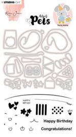 KJ-MBKJ-SCD05 Stamp & Cutting Die Missees By Karin Joan