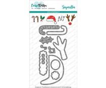 CDSN-0080 CarlijnDesign Snijmallen Knuffelkaart Accessoires Kerst