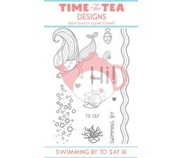 T4T/124/Swi/Cle Time For Tea Swimming By To Say Hi Clear Stamps