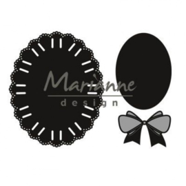 CR1458 Marianne Design Craftables oval ribbon die