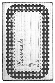 V01063 Colop Homemade by ... date ... Vintage Rubber Stamps