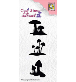 SIL034 - Silhouette clear stamps Mushrooms