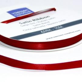 01002-1029 Vaessen Creative satijnlint dubbel 6mm - 10m Donkerrood