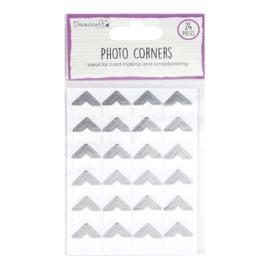 DCBS240 Dovecraft Essentials Photo Corners Silver