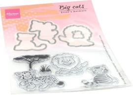 EC0182 Clear Stamp & Die grote katten
