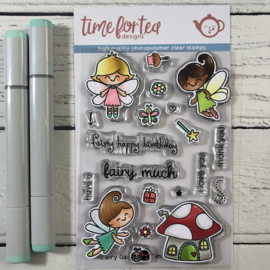 T4T/282/Fai/Cle Time For Tea Fairy Garden Clear Stamps