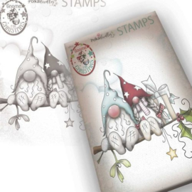 PD7949 Polkadoodles Gnome Christmas Love Clear Stamp