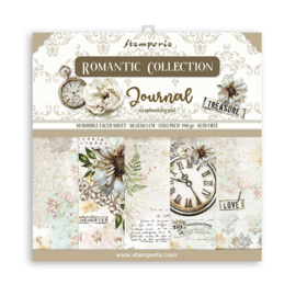 SBBL86 Stamperia 12x12 Inch Paper Pack Romantic Journal