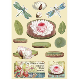 KLSP094 Stamperia Wooden Shapes A5 Amazonia Water Lily