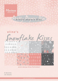 PB7057 Marianne Design Pretty Papers Eline's Snowflake kisses