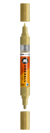228 ONE4ALL Acrylic twin marker Metallic gold