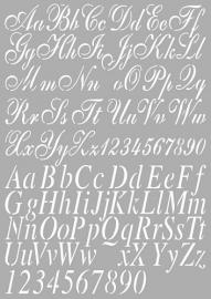 470.455.002 Dutch Stencil Art Alphabet 2