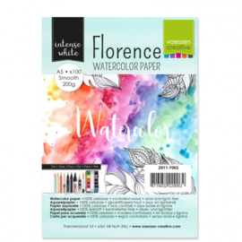 2911-7002 Florence • Watercolor paper smooth White A5 100pcs 200g