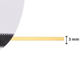 301002-0020 Vaessen Creative satijnlint dubbel 3mm - 10m geelgoud