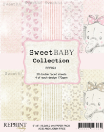RPP023 Reprint  Collection 6x6 Inch Paper Pack Sweet Baby