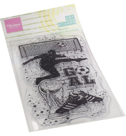 MM1645 Clear Stamp Soccer