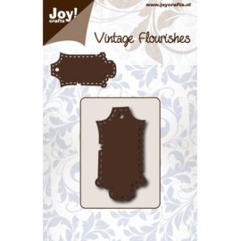 6003/0079 Vintage Flourishes Label gestikt