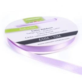 301002-1015 Vaessen Creative satijnlint dubbel 6mm - 10m lila