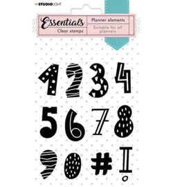 SL-PES-STAMP05 Clear Stamp Numbers Planner Essentials