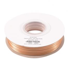 301002-5021 Vaessen Creative • Satijnlint dubbel 3 mm 100m Goud
