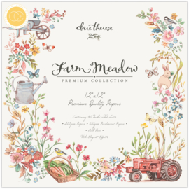 CCPPAD015 Craft Consortium Farm Meadow 12x12 Inch Paper Pad