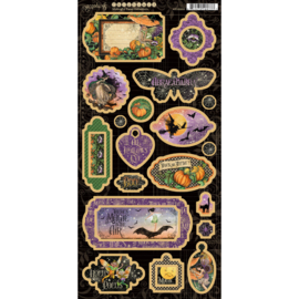4502285 Graphic 45 Chipboard Midnight Tales