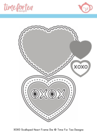 T4T/377/Sma/Sta Time For Tea Small Heart XOXO Frame Dies