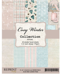 RPP045 Reprint Cozy Winter Collection 6x6 Inch Paper Pack