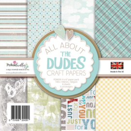 PD8059 Polkadoodles All About The Dudes 6x6 Inch Paper Pack