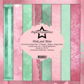 PF351 Paper Favourites Pink and Mint 12x12 Inch Paper Pack