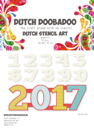 470.990.040 Dutch Stencil Art Cijfers 0-9 (12 cm hoog)