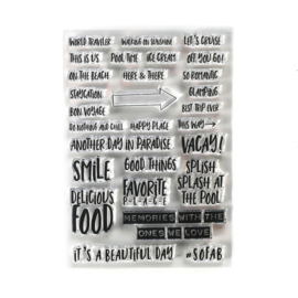 CS192 ECD Clearstamps Vacay Phrases