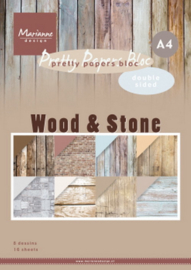 PK9170 Eline's paper bloc Wood & Stone