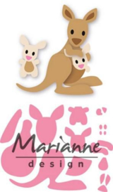 COL1446 Marianne Design Collectables Eline's kangaroo & baby