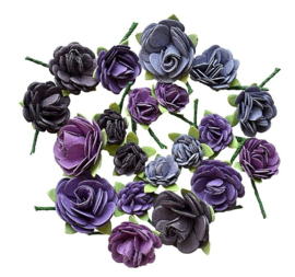 2037-203 Handmade rose hill Purple