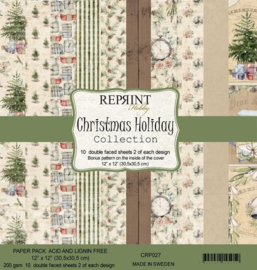 CRP027 Reprint 12x12 Inch Collection Pack Christmas Holiday