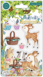 CCSTMP057 Craft Consortium Bluebells and Buttercups Picnic Clear Stamps