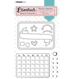 SL-PES-SCD01 Stamp & Cutting Die Monthly calendar Planner Essentials