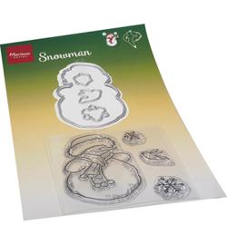 HT1667 Clear Stamp & Die snowmen