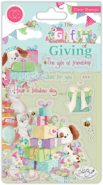CCSTMP041 Craft Consortium The Gift of Giving Clear Stamps The Gift