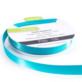 301002-2012 Vaessen Creative satijnlint dubbel 9mm - 10m turquoise