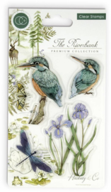 CCSTMP010 Craft Consortium The Riverbank Clear Stamps Kingfisher