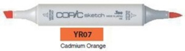 YR07 Copic Sketch Marker Cadmium Orange