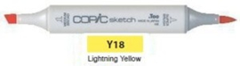 Y18 Copic Sketch Marker Lightning Yellow