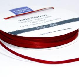 301002-0029 Vaessen Creative satijnlint dubbel 3mm - 10m Donkerrood