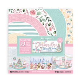 SBBXLB12 Stamperia Christmas Rose 12x12 Inch Maxi Paper Pack
