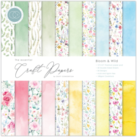 CCEPAD009 Craft Consortium Essential Craft Papers 12x12 Inch Paper Pad Bloom & Wild